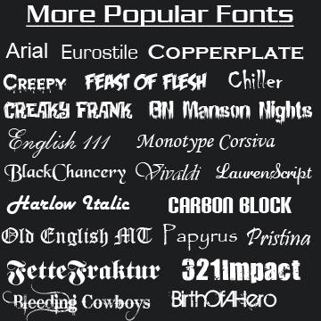 Most Popular Fonts