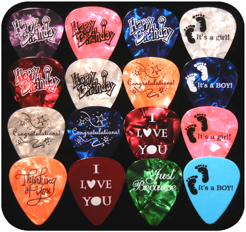 Custom Guitar Picks for that Special Occasion