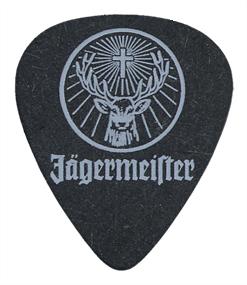 Single Color Guitar Pick Printed Samples  Jagermeister