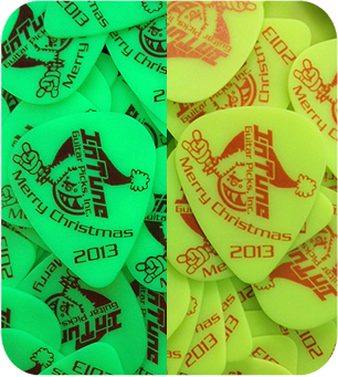 Personalized Guitar Picks in Neon Yellow