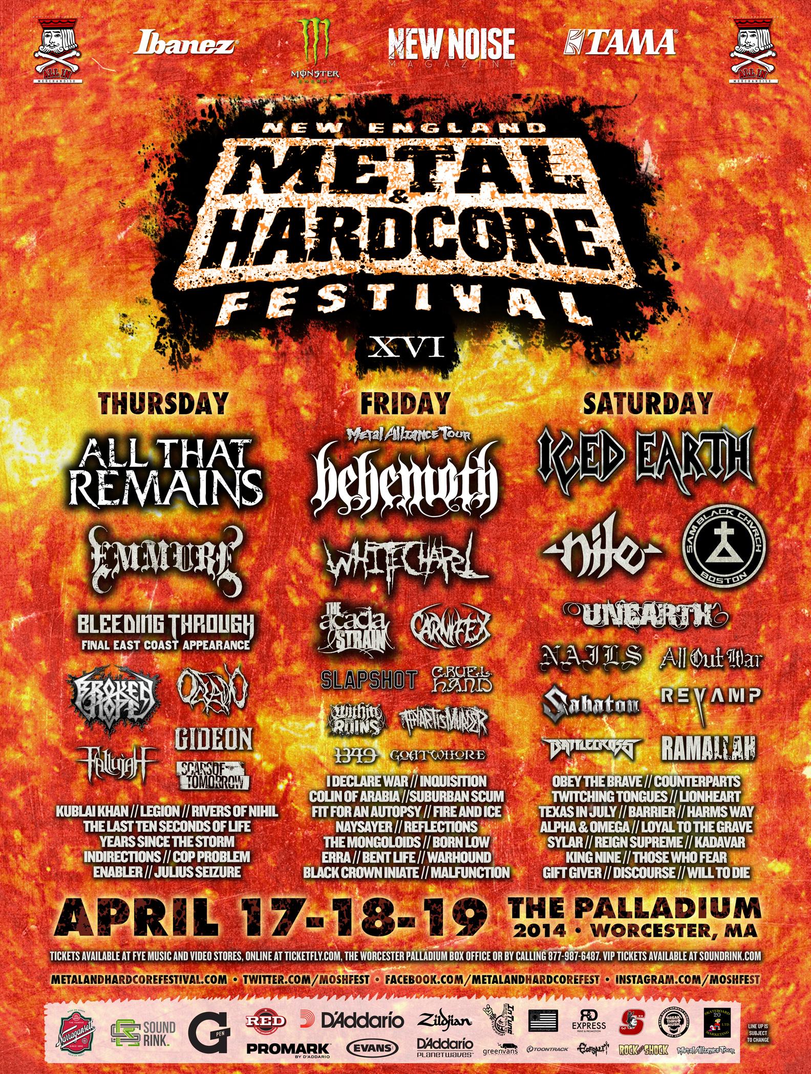 Custom Guitar Picks New England Metal and Hardcore Festival