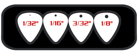 Personalized Guitar Picks Hole Drilling