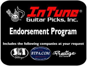 Custom and Personalized Guitar Picks endorsement