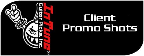 Custom Guitar Pick Clients Promo Shots
