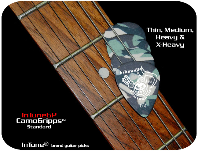 InTuneGP CamoGripp for Personalized guitar picks