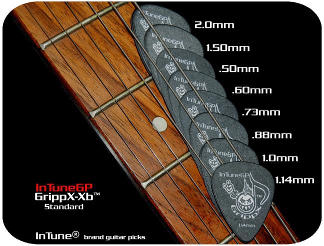 InTuneGP GrippX-Xb Custom Guitar Picks