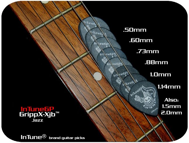 InTuneGP GrippX-Xjb Custom Guitar Picks