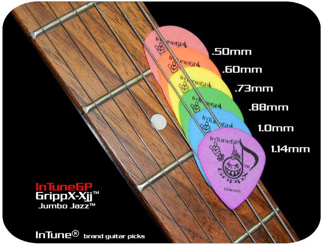 InTuneGP GrippX-Xjj Custom Guitar Picks