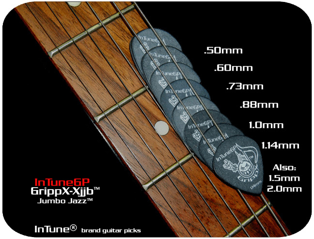 InTuneGP GrippX-Xjjb Custom Guitar Picks
