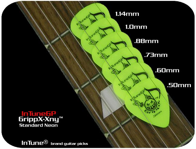 InTuneGP GrippX-Xny Neon Custom Guitar Picks