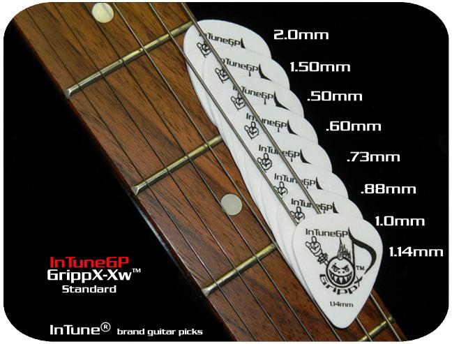 InTuneGP GrippX-Xw Custom Guitar Picks