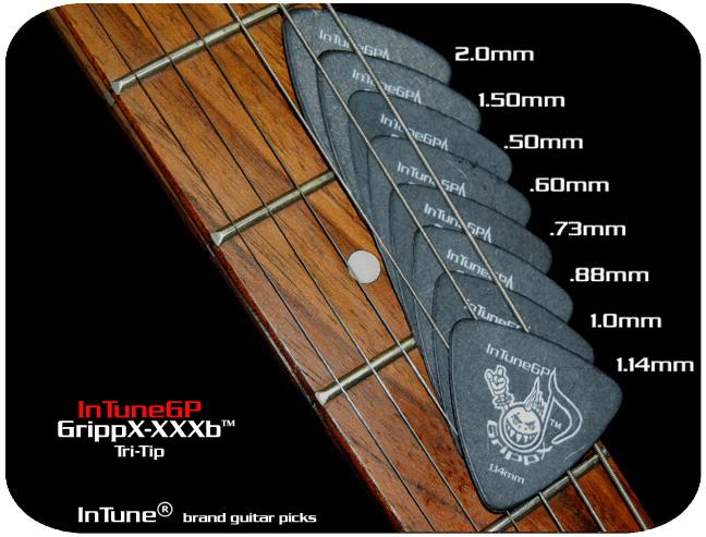 InTuneGP GrippX-XXXb Custom Guitar Picks