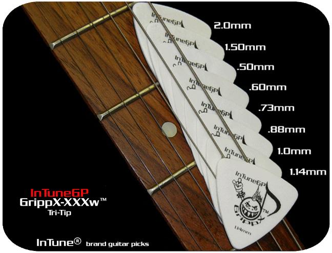 InTuneGP GrippX-XXXw Custom Guitar Picks