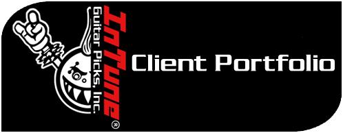 Custom Guitar Picks Client Portfolio