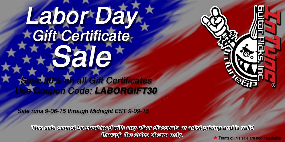 Labor Day Guitar Pick Sale
