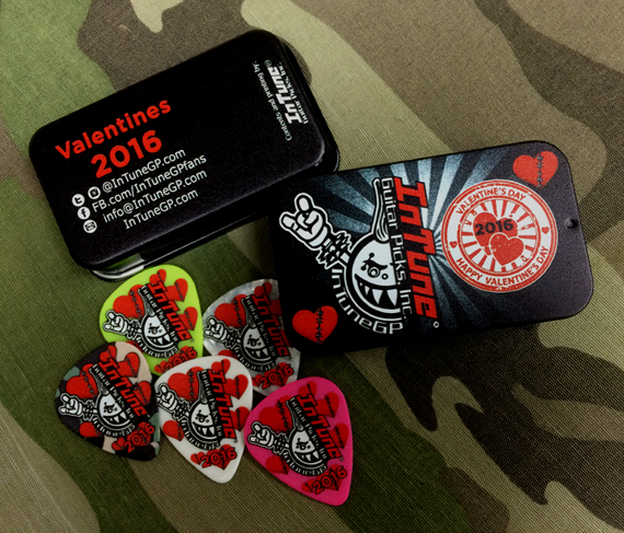 Custom Guitar Picks for Valentines Day