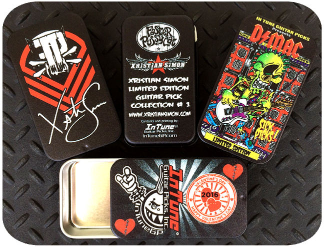 Empty Custom Shop Guitar Pick Tins, Custom Guitar Pick Tins