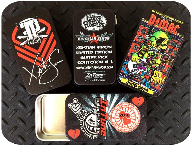 Empty Custom Shop Guitar Pick Tins, Custom Guitar Pick Tins