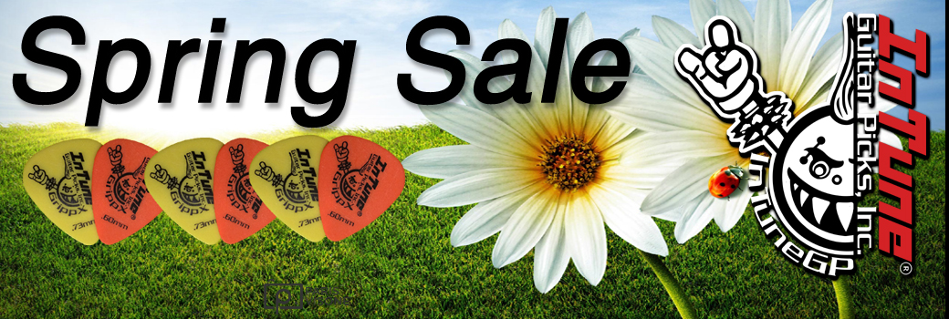 2019 Custom Guitar Pick Spring Sale
