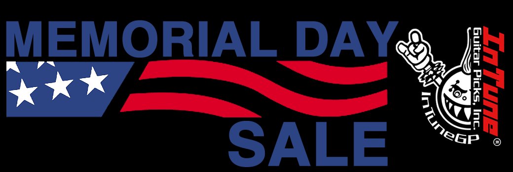 Memorial Day Custom Guitar Pick Sale