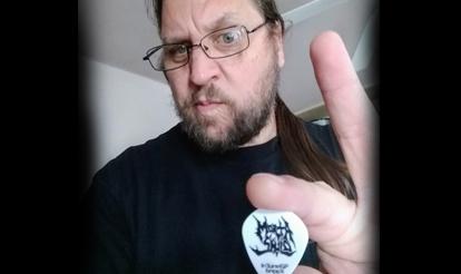 Personalized guitar picks for InTuneGP artist Dave Gregor