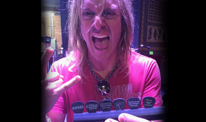 Personalized guitar picks for InTuneGP artist Tony Higbee
