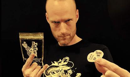 Personalized Guitar Picks Ramon Ploeg, Bleeding Gods Custom Guitar Picks