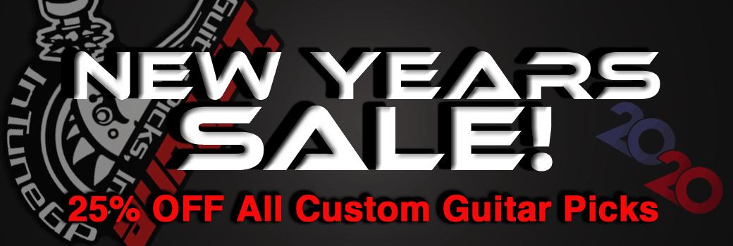 2020 New Years Custom Guitar Pick Sale