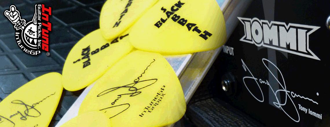 Tony Iommi Custom Guitar Picks, Black Sabbath