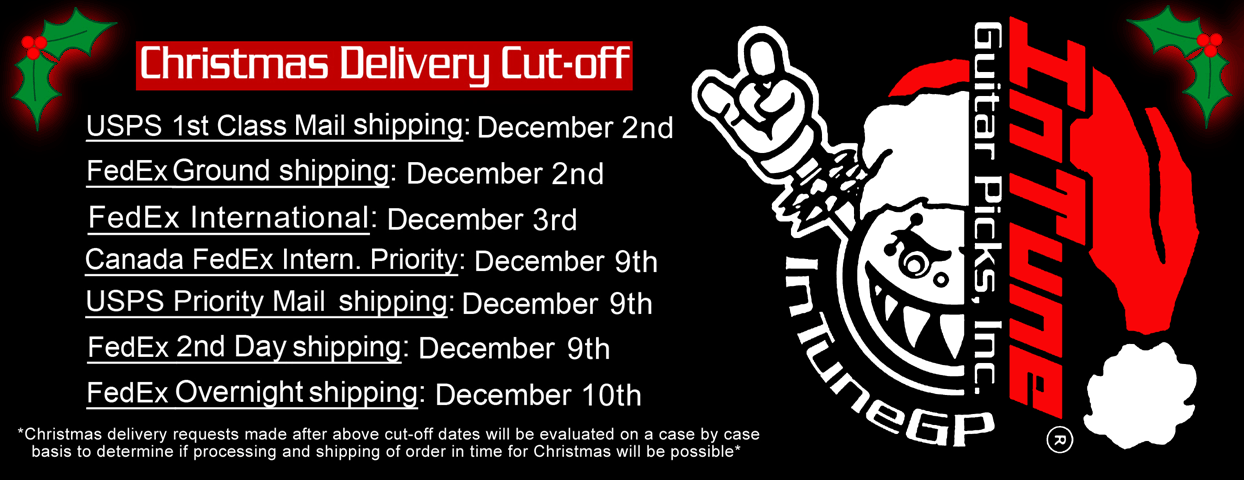 Christmas Guitar Pick Delivery