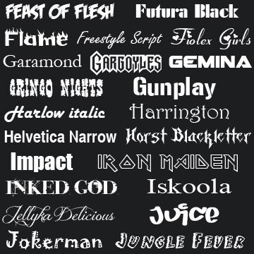 Fonts F-J