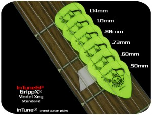 Custom Guitar Picks Neon Yellow GrippX-XNY