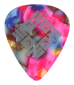 Single Color Guitar Pick Printed Samples