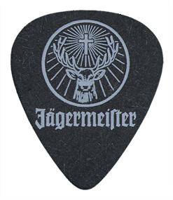 Single Color Guitar Pick Printed Samples  Jagermeister