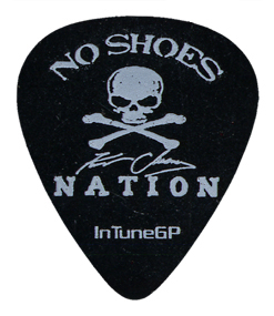 White Ink on Black Celluloid Guitar Picks