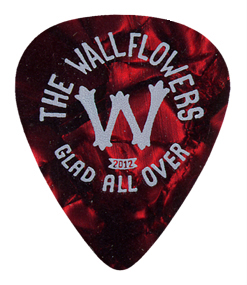 White Ink on Red Pearl Celluloid Guitar Picks