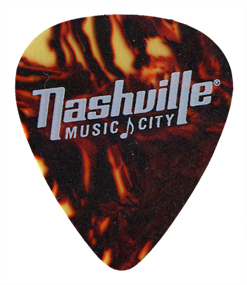 White ink on Tortoise Celluloid Guitar Picks