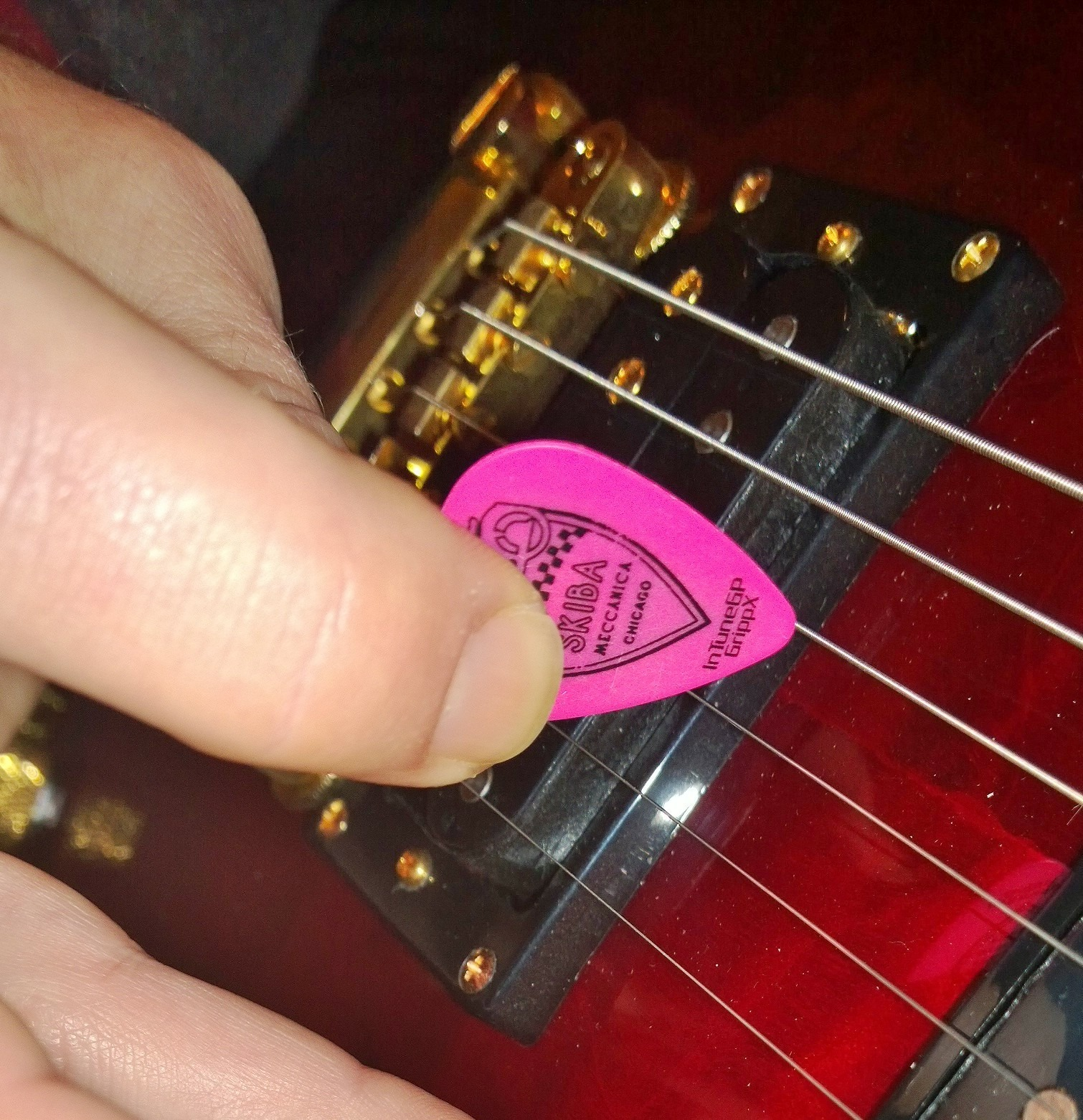 Fan photos of personalized guitar picks