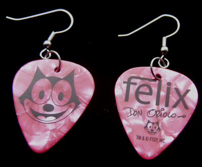 Custom Guitar Pick Earrings