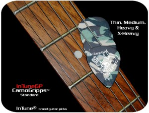 InTuneGP CamoGripp Custom Guitar Picks, personalized