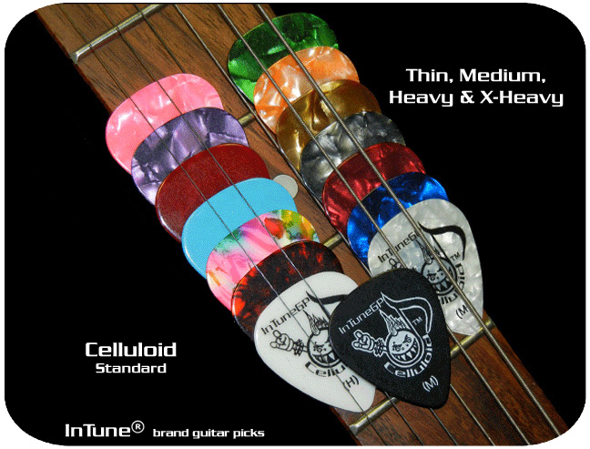 InTuneGP Celluloid Custom Guitar Picks