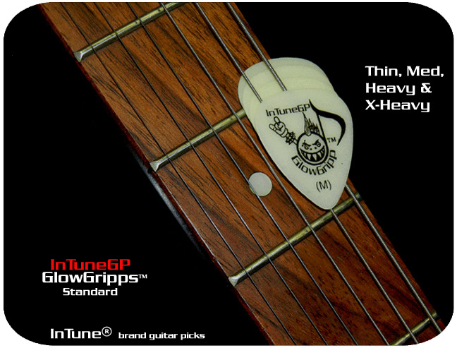 InTuneGP GlowGripp Custom Guitar Picks