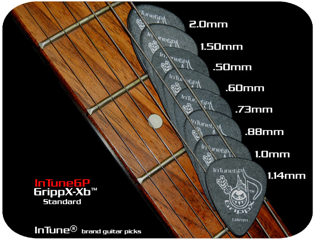 InTuneGP GrippX-Xb Custom Guitar Picks