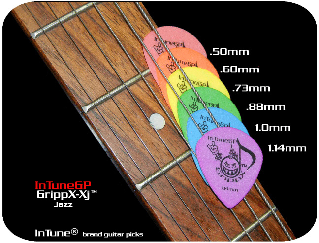 InTuneGP GrippX-Xj Custom Guitar Picks