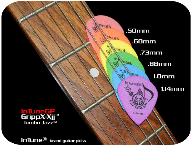 InTuneGP GrippX-Xjj Custom Guitar Picks