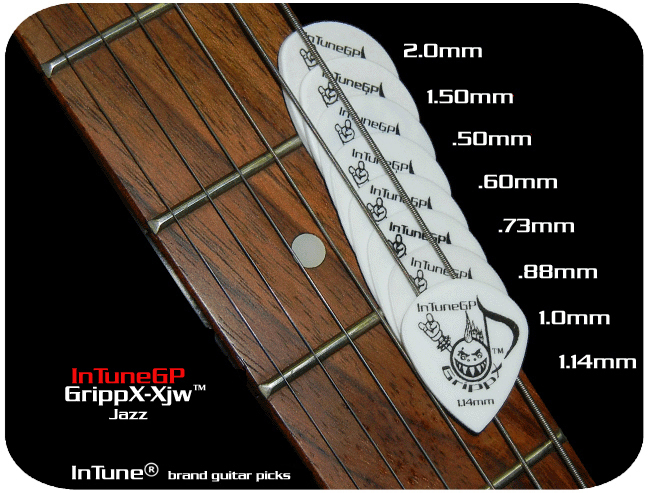 InTuneGP GrippX-Xjw Custom Guitar Picks