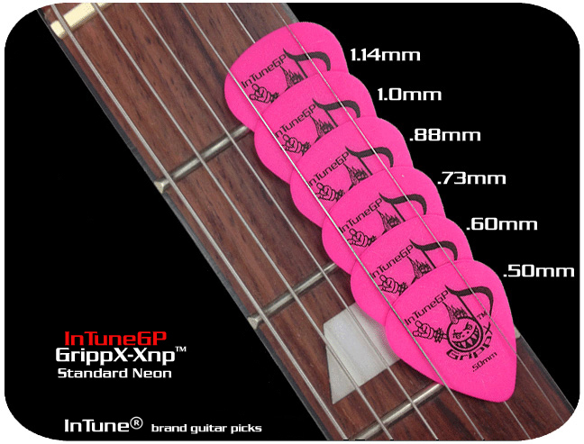 InTuneGP GrippX-Xnp Neon Custom Guitar Picks