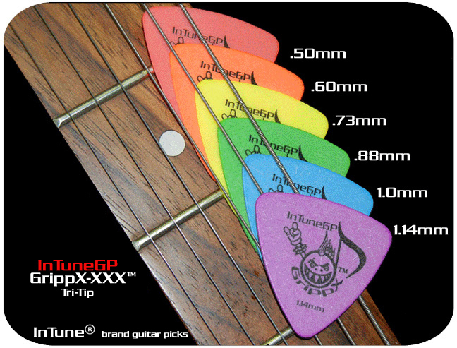 InTuneGP GrippX-XXX Custom Guitar Picks