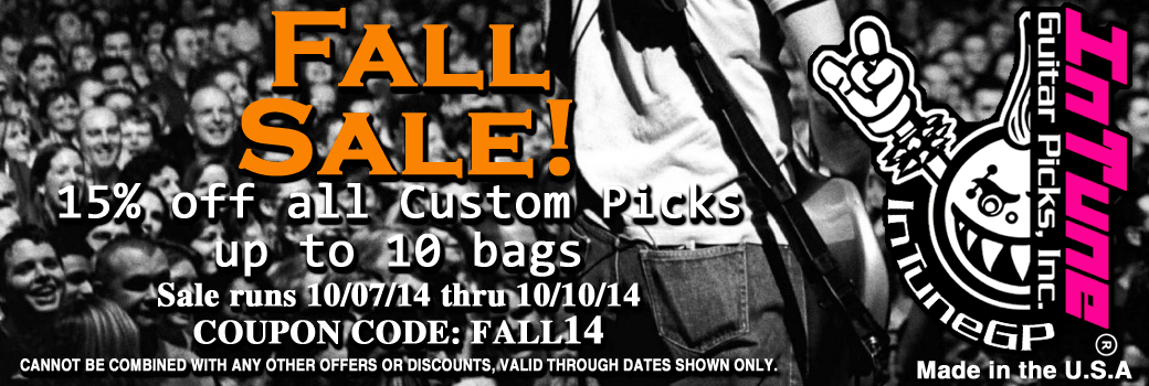Personalized Guitar Pick Sale