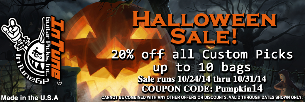 Halloween Guitar Pick Sale